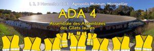 Quelque 450 représentants des assemblées locales des Gilets jaunes ont confronté leur expérience, débattu et élaboré des perspectives d'action ( © DR/ADA 4).
