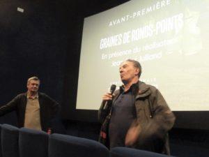 Jean-Paul Julliand fait la tournée des salles françaises de cinéma pour assurer la promotion de son film Graines de ronds-points et débattre avec les spectateurs ( © Pierre Nouvelle ).