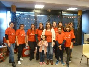 L'organisation d'un marché de Noël d'une telle ampleur suppose une équipe de bénévoles motivés telle que celle que sait réunir l'association Ampuis Mozaïk ( © Pierre Nouvelle ).
