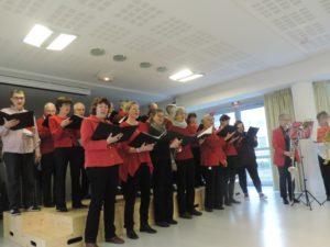 Le Choeur des hospices civils de Lyon, c'est une trentaine de choristes qui interpètent des ouevres classiques, modernes et populaires comme les chants de Noël ( © Magalie Deel ).