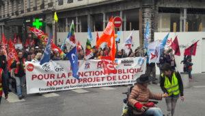 En mai dernier, comme les personnels de santé auparavant, les fonctionnaires manifestaient dans l'unité syndicale la plus complète ( © Pierre Nouvelle ).