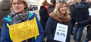 Méprisées par leur ministre, deux professeures des écoles veulent que se poursuive le mouvement de protestation contre la réforme des retraites ( © Pierre Nouvelle )