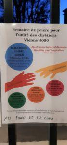 Quatre rendez-vous étaient proposés par les communautés catholiques, protestante et apostolique arménienne des deux rives du bassin viennois entre le 12 et le 19 janvier 2020 ( © Pierre Nouvelle ).