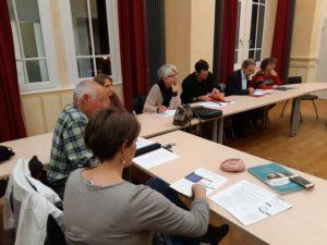Début février, les élu.e.s de Condrieu ont reçu les associations AuterVR et Movi&co et ont souligné l'importance du retour des trains de voyageurs sur la rive droite du Rhône ( © Pierre Nouvelle ).