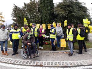 Le 18 novembre 2019, lees Gilets jaunes n'ont pas oublié le début du mouvement ( © Pierre Nouvelle ).