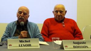 En 2017, avec Michel Lenoir 5Berliet-RVI), il évoquait les grèves de 1967, mouvements précurseurs de mai 68 ( © Pierre Nouvelle ).